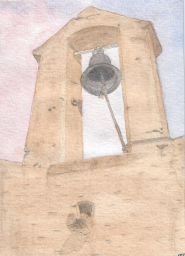 """Idiophone"" 1999, pencil and watercolor (my first real attempt in this medium)."